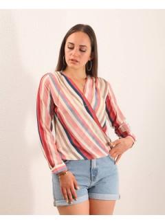 color striped shirt